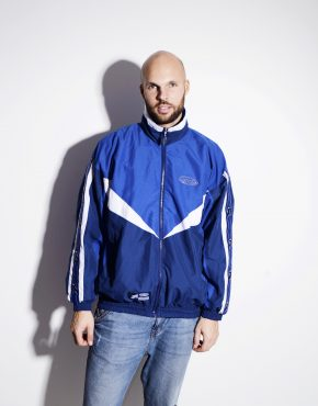 Vintage lightweight blue shell jacket