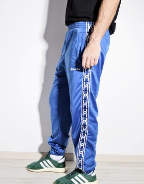 Vintage track trousers in blue by LOTTO