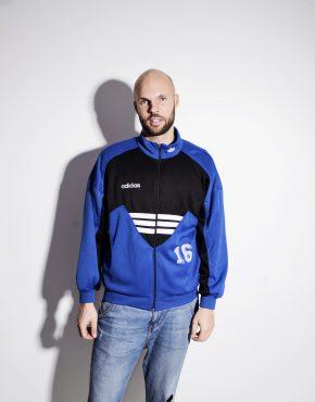 Adidas Originals vintage blue track jacket