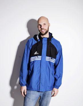 Vintage 90s ADIDAS men sport parka shell jacket