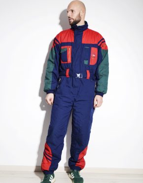 80s vintage winter warm ski suit for men by Springfield