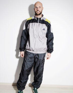 ADIDAS vintage sport tracksuit in grey colour for men