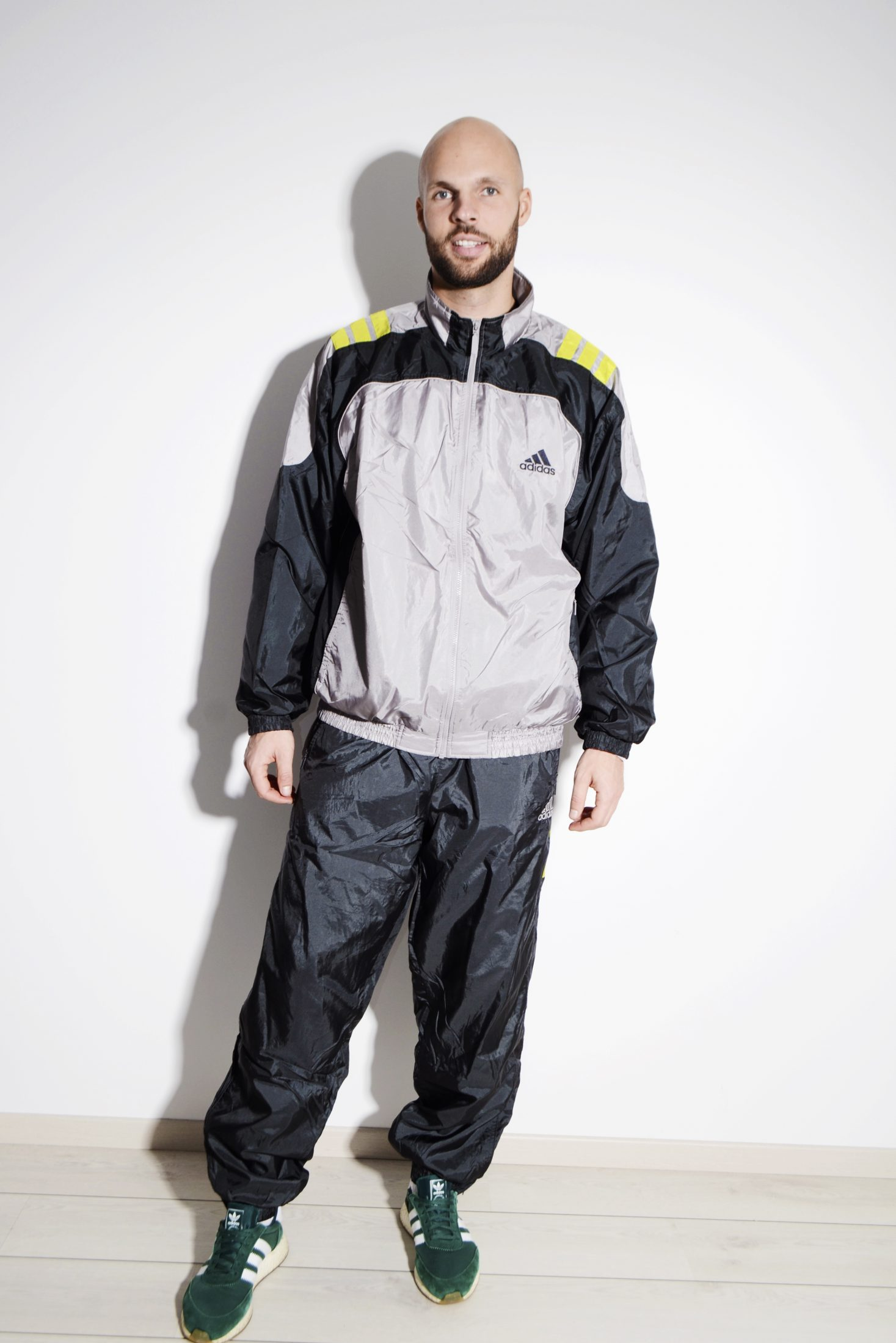 833069f8e84e9 ADIDAS vintage sport tracksuit in grey colour for men