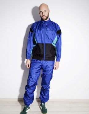 ADIDAS Originals vintage sport tracksuit in blue colour for men
