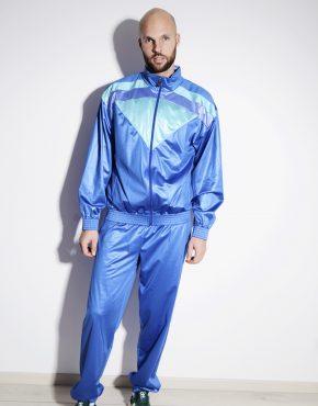 80s blue tracksuit for men