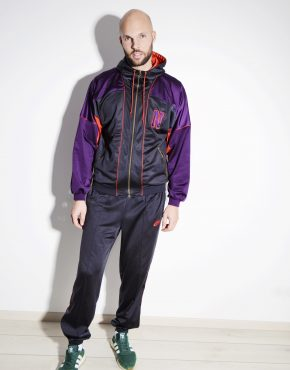 NIKE vintage tracksuit for men multi black purple red colour
