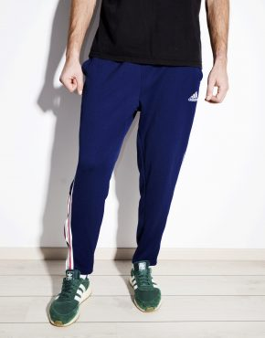 ADIDAS blue men sweatpants track trouser