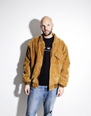 Vintage brown synthetic velour jacket for men by Alta Moda