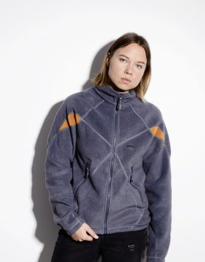 Vintage warm grey ski fleece sweater by Helly Hansen