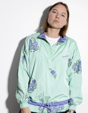 Vintage Reebok windbreaker in green colour
