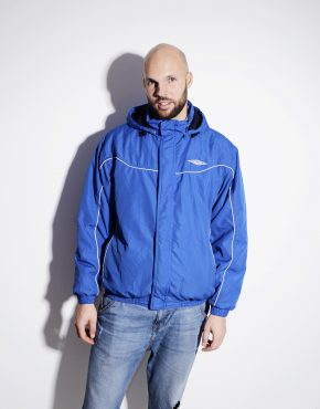 UMBRO blue hooded anorak for men