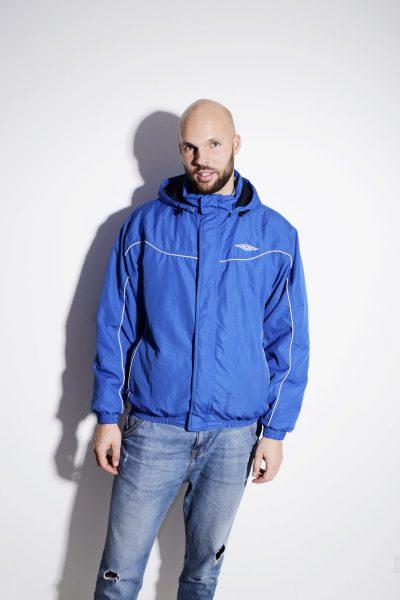 UMBRO blue hooded anorak for men
