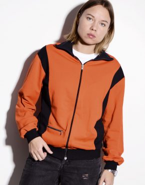 Vintage 70's track jacket in orange colour