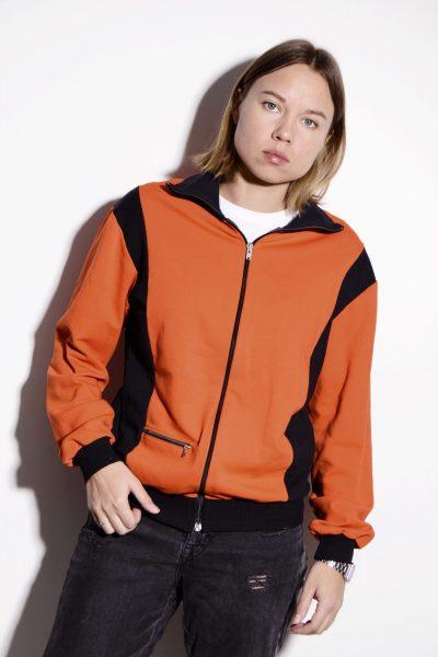 70s jacket sport orange