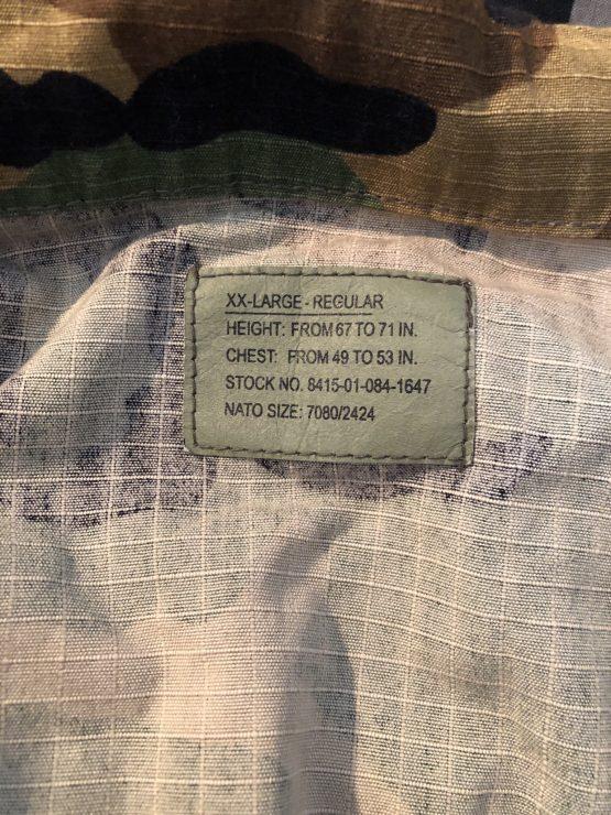 Vintage camo military men's shirt