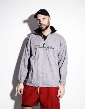 CHAMPION mens grey pullover