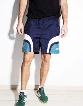 Vintage sport blue shorts PUMA men
