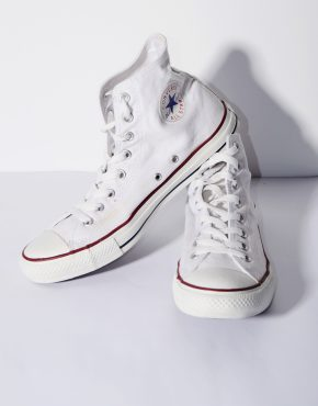 CONVERSE classic white trainers