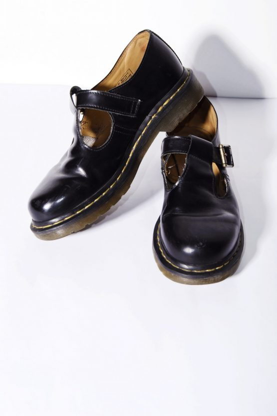 Dr. Martens Polley black women's leather shoes