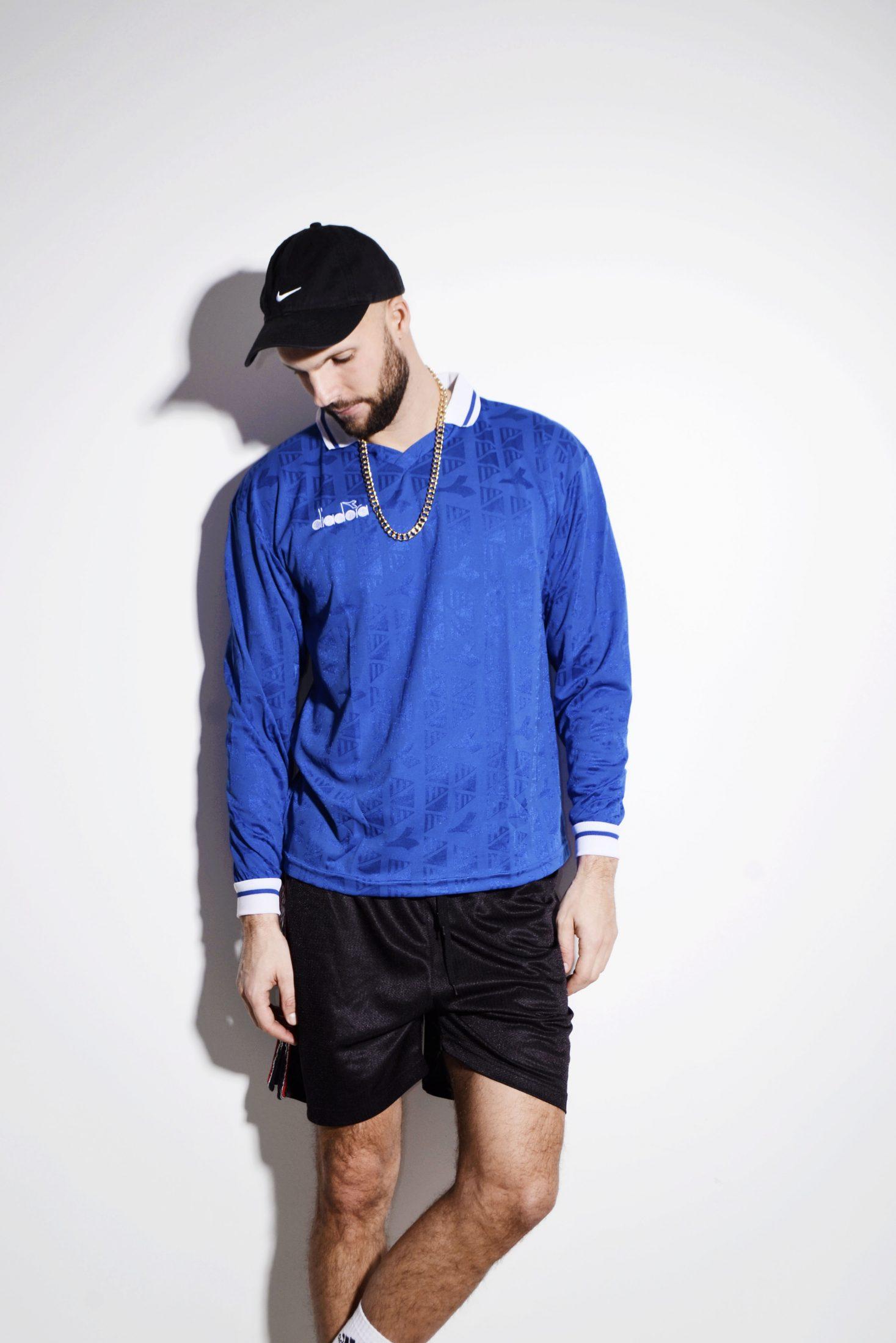 a45d1b472c DIADORA soccer blue shirt men jersey