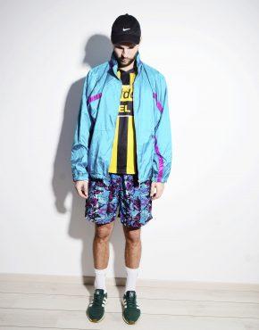 NIKE vintage cyan blue colour jacket