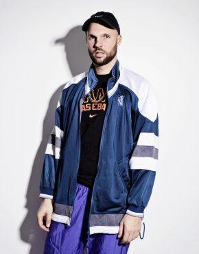 NIKE Old School vintage jacket blue mens