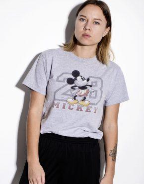 DISNEY vintage t-shirt in gray color