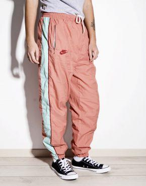 NIKE vintage multi peach shell pants nylon women