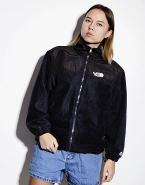 The North Face black warm fleece jacket women's