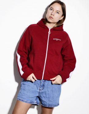 Vintage women's red tracksuit top sports jacket REEBOK