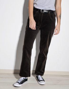 Velvet dark brown vintage trousers