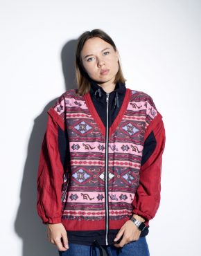 90s shell jacket red