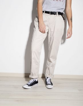 TOMMY HILFIGER vintage soft cotton thin pants in beige