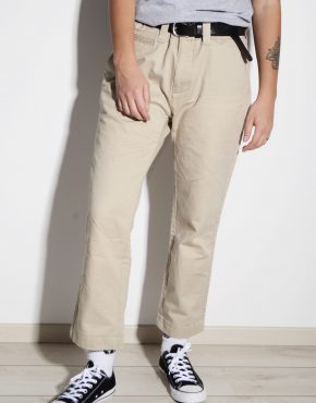 Vintage cotton summer straight fit work pant