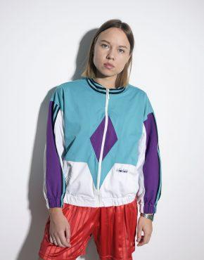 ADIDAS Originals vintage ladies multi classic retro jacket