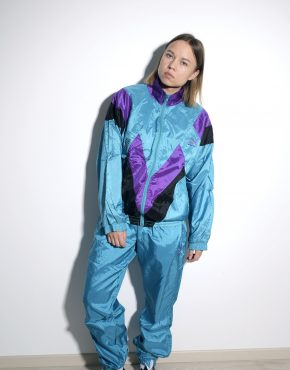 PUMA vintage tracksuit rave set in multi color