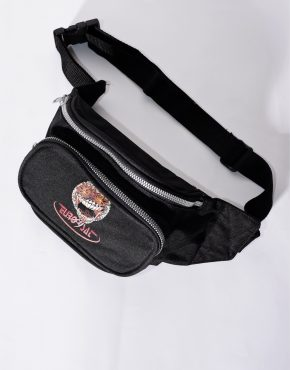 Vintage festival bum bag in black color