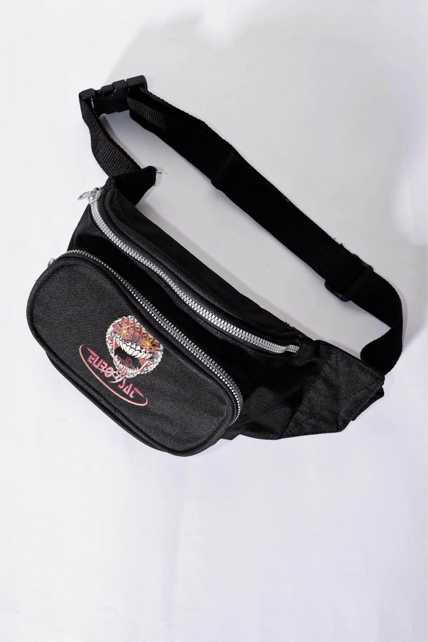 11f6530bd11 Vintage Festival Black Bum Bag   Vintage clothing online store in EU