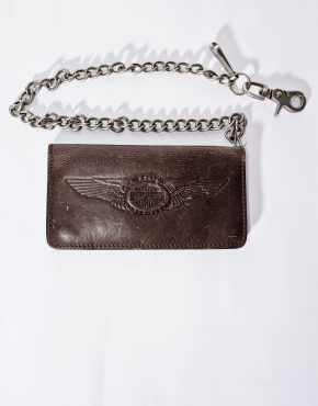 Harley-Davidson men's brown leather chain wallet