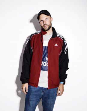 ADIDAS unisex track top wind jacket red
