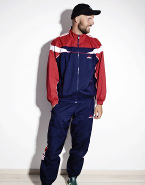 ADIDAS vintage sport tracksuit set in blue red colour for men