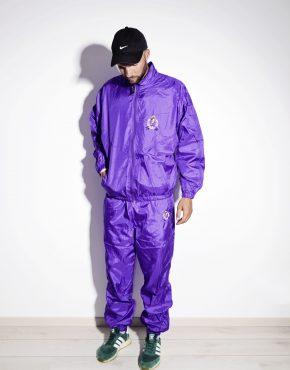 80s vintage rave tracksuit set in purple color