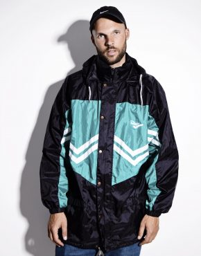 90s hooded windbreaker lightweight jacket
