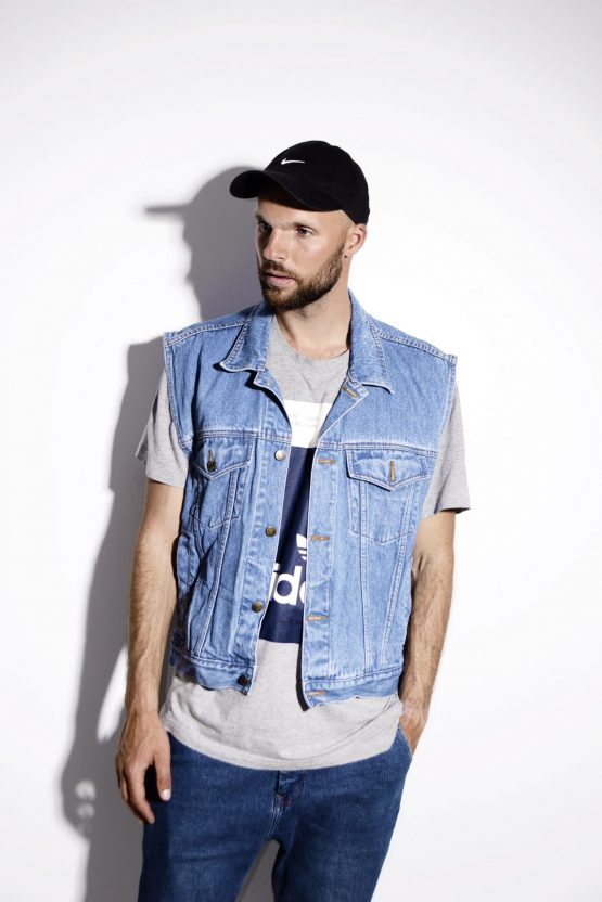 Men Vintage Denim Vest Jacket