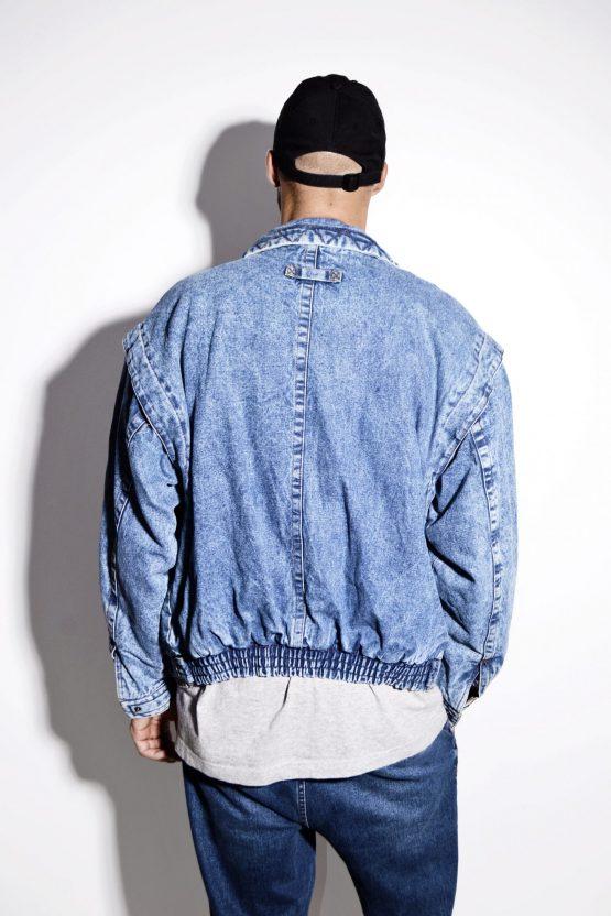 Vintage warm denim jacket men's