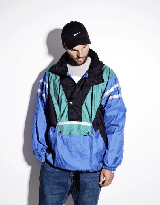 Vintage festival nylon wind shell jacket pullover