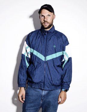 Vintage windbreaker color block jacket mens