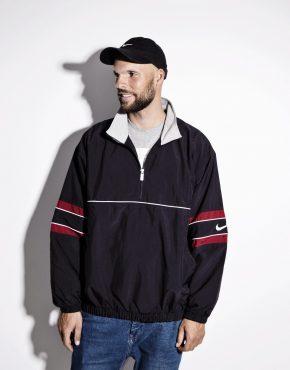 90s NIKE black color wind track jacket pullover