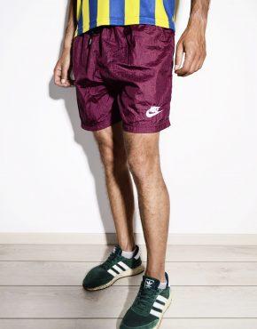 NIKE vintage maroon sport shorts for men