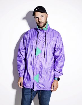 Vintage festival wind shell jacket